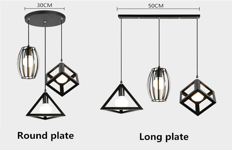 Luces colgantes, negro/blanco, placa de techo, tira larga, placa redonda, Base de disco, placa colgante, lámparas colgantes LED, accesorios especiales