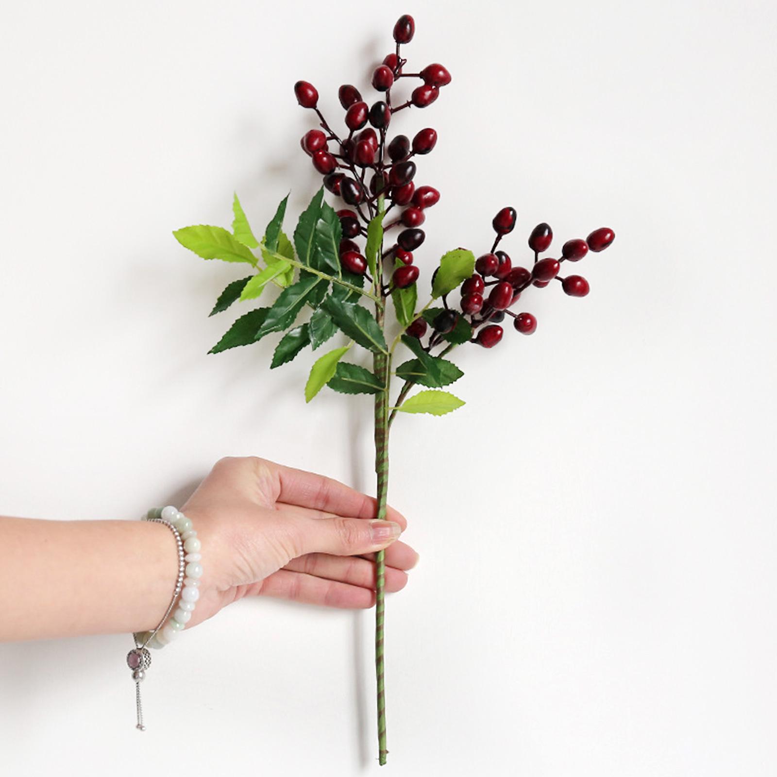 Ramo de flores artificiales de olivo, flores verdes, decoración de plantas para DIY, decoración para bodas, fiestas, accesorios para jardín