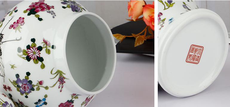 Florero de tanque de cerámica luminosa General antiguo Noctilucence flores sombrero cubierto tarros de jengibre ornamento regalo creativo
