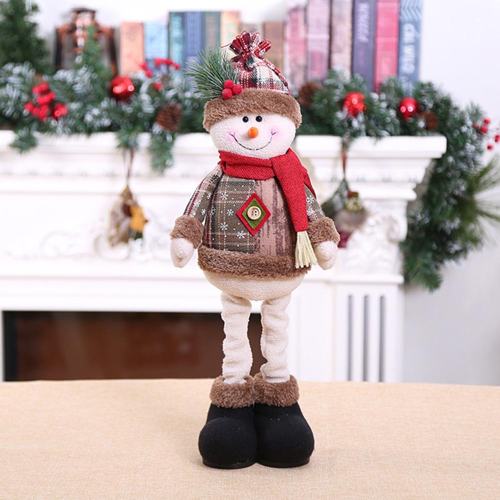 Decoraciones de muñecos de Navidad 2020 para el nuevo para el hogar, ornamento de árbol de Navidad, Reno innovador, muñeco de nieve, Papá Noel, muñecas grandes, regalo para niños