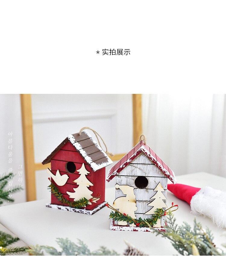 Decoración de suelo navideño, buzón para el hogar, exterior, madera, decoración para fiesta de Navidad, hecho a mano, restaurante, Hotel, accesorios de fotografía