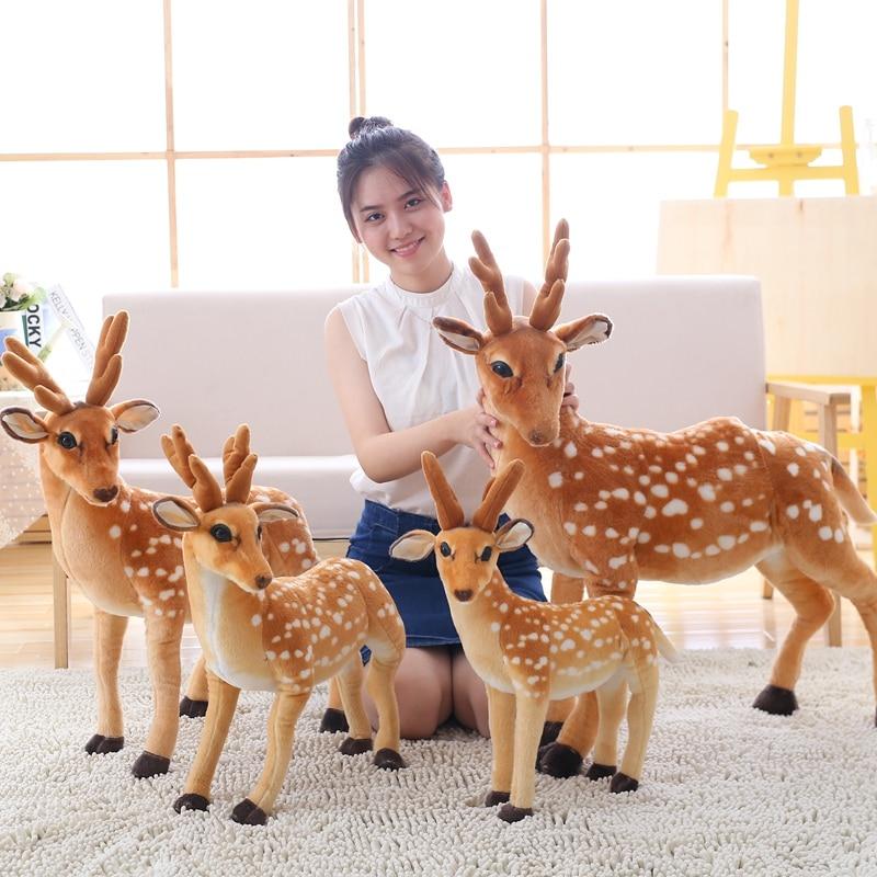 Muñeco de simulación de ciervo SICA para niños, juguete creativo de felpa con relleno de animales, manualidades de renos, regalo de Navidad para niños, regalo de cumpleaños de niña