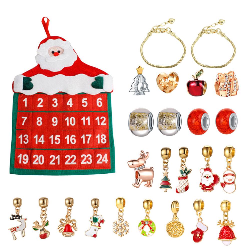Calendario de Adviento colgante de Navidad para niños, suministros de bricolaje, conjunto de regalo de Navidad, bolsa de tela Adorable, ornamentos adorables, decoraciones, 25 uds.