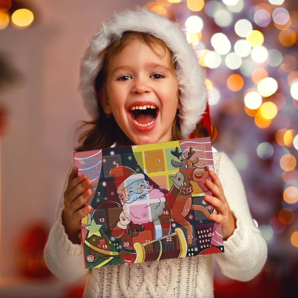 Calendario de Adviento de Navidad para niñas, joyería de moda, calendario de Adviento, pulsera de oro, collar, calendario de cuenta regresiva, caja de regalo